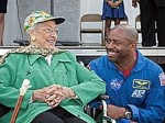 NASA Astronaut Leland Melvin and Katherine Johnson